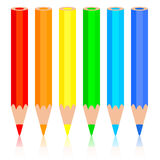 Set of colored pencil Royalty Free Stock Photography
