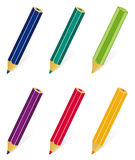 A set of colored pencils Royalty Free Stock Images