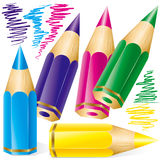 Set of colored pencils Stock Photography
