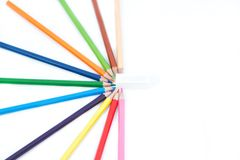 A set of colored pencils Royalty Free Stock Photos