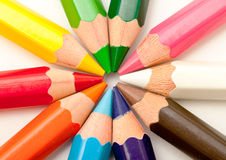Set of colored pencils Royalty Free Stock Photos
