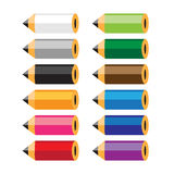 Set of colored pencils Royalty Free Stock Photography