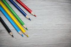 A set of colored pencils for drawing. Royalty Free Stock Photography
