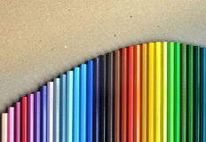 Set of colored pencils for drawing. Royalty Free Stock Photo