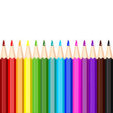 Set of colored pencils,  illustration Stock Photos