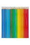 Set of colored pencils isolated Royalty Free Stock Images