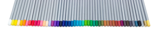 Set of colored pencils on a light background Royalty Free Stock Image