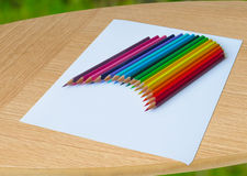 A set of colored pencils. Ready to work Royalty Free Stock Image