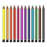 A set of colored pencils Stock Images
