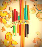 Set of colored pencils Royalty Free Stock Image