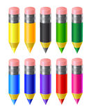 Set colored pencils. Set of colored pencils  on a white background Royalty Free Stock Images