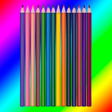 set of colored pencils on white background Royalty Free Stock Images