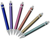 Set of colored pens Stock Photo