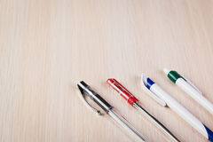 Set of colored pens Stock Images