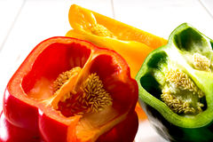 Set of colored peppers Royalty Free Stock Photo