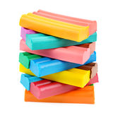 Set of colored plasticine Stock Photography
