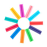 Set of colored plasticine Stock Images