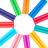 Set of colored plasticine Royalty Free Stock Image