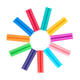 Set of colored plasticine Royalty Free Stock Photos