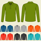 Set of colored polo t-shirts templates for men Royalty Free Stock Photo