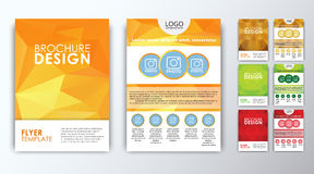Set of colored polygonal brochures Stock Image