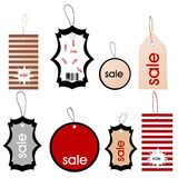 Set of colored price tags Royalty Free Stock Photo
