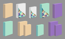 Set of colored product Boxes Royalty Free Stock Photography
