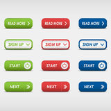 Set of colored rectangular buttons Stock Photography