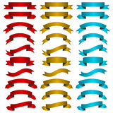 Set of colored ribbon banners Stock Photography