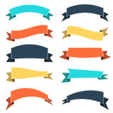 Set of colored ribbon Stock Images