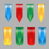 Set of colored ribbons Royalty Free Stock Images