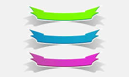 Set of colored ribbons color banners  Royalty Free Stock Photography