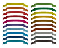 Set of colored ribbons. The color palette Royalty Free Stock Images
