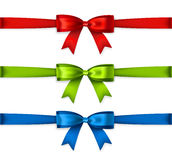 Set of colored ribbons. Isolated on white background. Vector Stock Photography