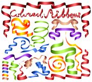 Set of colored ribbons. (Vector) Royalty Free Stock Photography