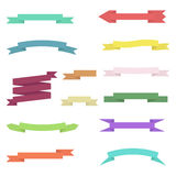 Set of colored ribbons on white background Stock Photo