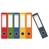 Set of colored ring binders Stock Image