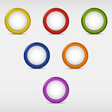 Set of colored round empty buttons Stock Photography