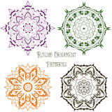 Set of colored round ornament patterns 1 Stock Photo