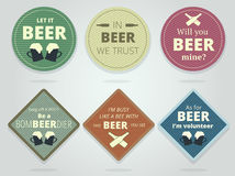 Set Of Colored Round and Square Ready Beer Coasters and Mats Wit Stock Photo