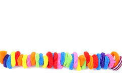 Set of colored rubber bands for hair, Colorful elastic hair band Stock Photo