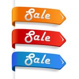 Set of colored sale arrows Royalty Free Stock Photography