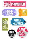 Set of colored sale coupon vouchers Royalty Free Stock Images