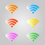 A set of colored signs for a wifi. Stock Image