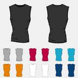 Set of colored sleeveless shirts templates for men Stock Image