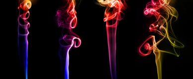 Set of colored smoke Stock Photo