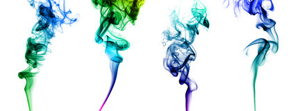 Set of colored smoke Royalty Free Stock Image