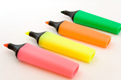 Set of colored soft-tip pens Royalty Free Stock Photos