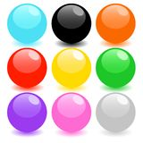 Set of colored spheres Royalty Free Stock Images