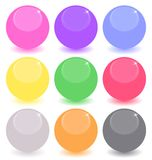 Set of colored spheres Royalty Free Stock Photos